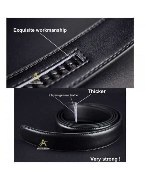4GL LB05 Business Men Leather Automatic Buckle Belts Luxury Belt
