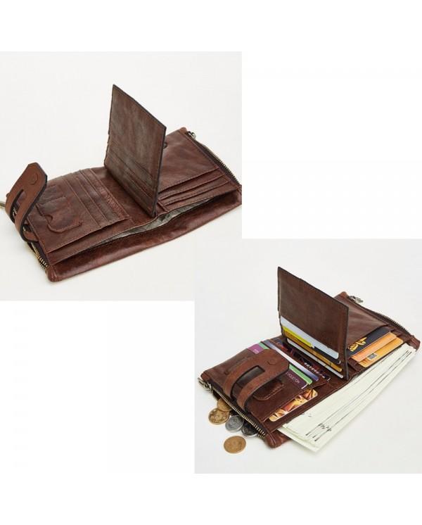 4GL Cow Leather Coin Short Purse Wallet Men Women Dompet 2059