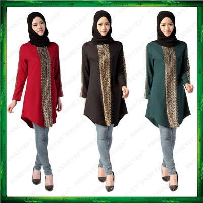 4GL E01-990001 Muslimah Shinning Long Sleeve Women Blouse Jubah
