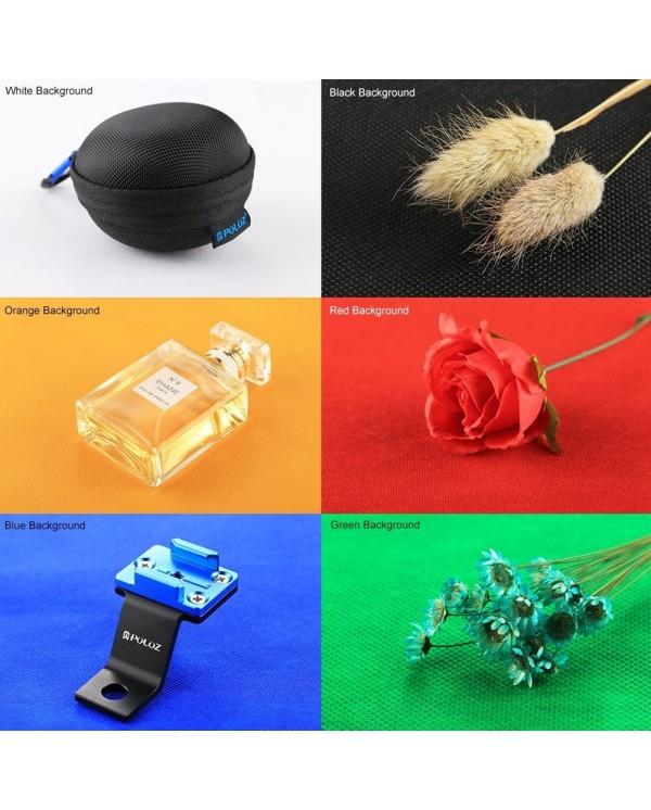 4GL PULUZ 20cm 2 LEDs Light Portable Photo Studio Box 6 Colors Backdrops