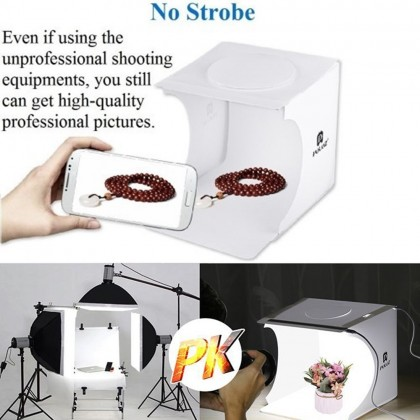 4GL PULUZ 24cm 2 LEDs Light Portable Photo Studio Box 6 Colors Backdrops