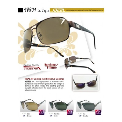 4GL IDEAL Square Aviator 98801 Polarized Sunglasses Anti Reflective Coat