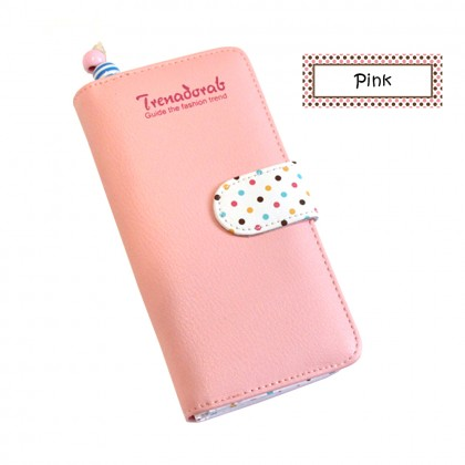 4GL Trena001 Long Purse Korean Fashion Trena  Wallet With Coin Pocket Zip