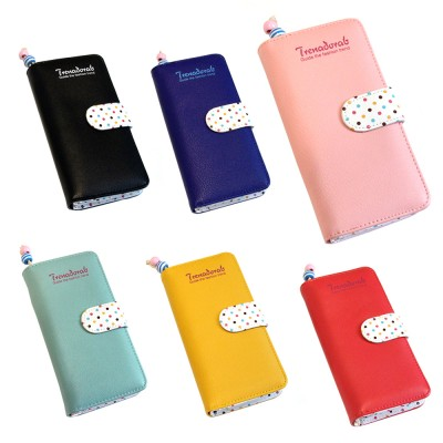 4GL Korean Fashion Trena Long Purse Wallet With Coin Pocket Zip Trena001