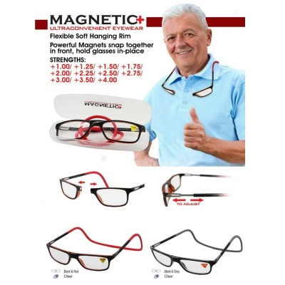4GL MAGNETIC+ Expandable Ultraconvenient Reading Glasses C07-050006