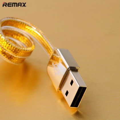 4GL REMAX Gold Fast Charging Micro USB Data Cable Phone Cable 1m