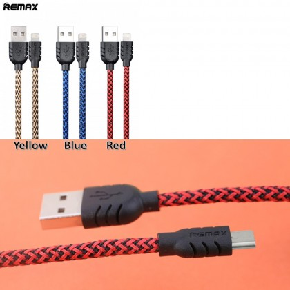 4GL REMAX Nylon Safe and Fast Data Line Cable Micro USB 1m