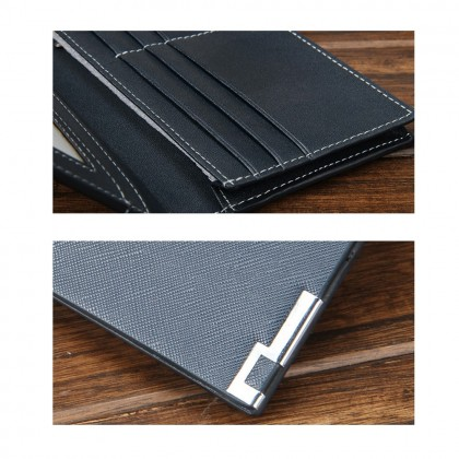 4GL Baellerry 13839 Cross Short Wallet Men Women Slim Purse Dompet