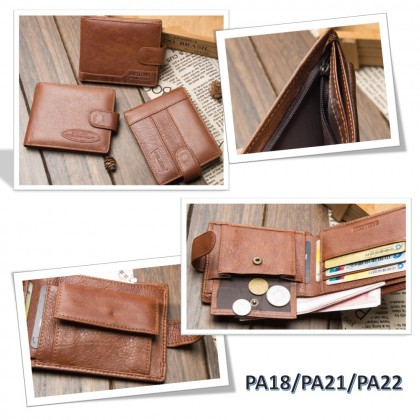 4GL BAELLERRY Leather Wallet Men Short Wallet Dompet 208-PA16