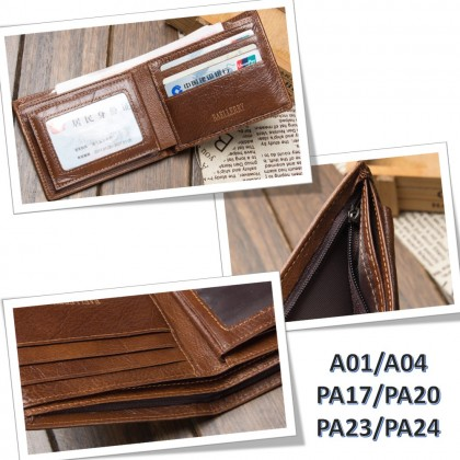 4GL BAELLERRY Leather Wallet Men Short Wallet Dompet 208-PA17