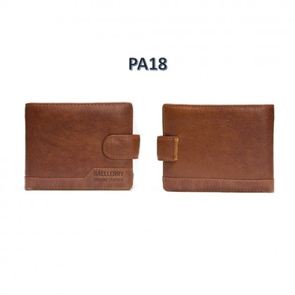 4GL BAELLERRY Leather Wallet Men Short Wallet Dompet 208-PA18