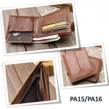 4GL BAELLERRY Leather Wallet Men Short Wallet Dompet 208-PA21