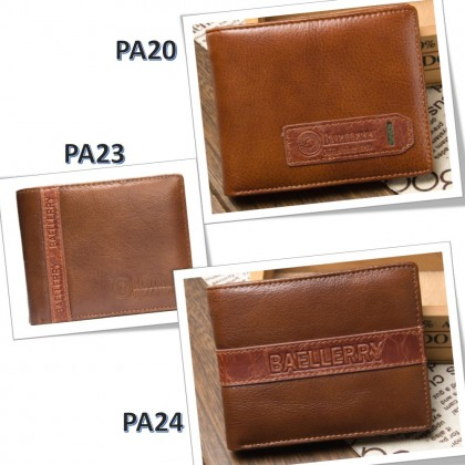 4GL BAELLERRY Leather Wallet Men Short Wallet Dompet 208-PA24