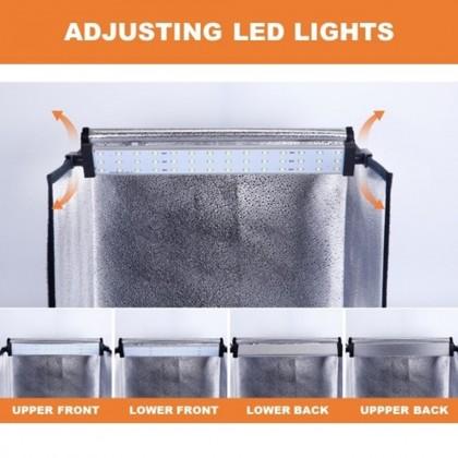 4GL TIANRUI 60cm 70cm Photo Studio 2 LEDs Portable 5 Colors Backdrops