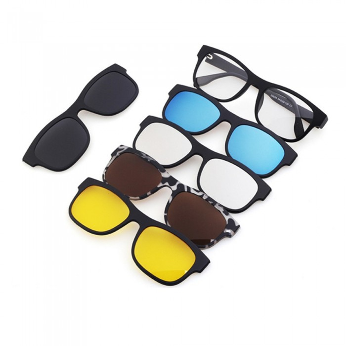 dae7fd3388 4GL 2203A Magnetic Clip On 6 in 1 Polarized UV Protection Sunglasses