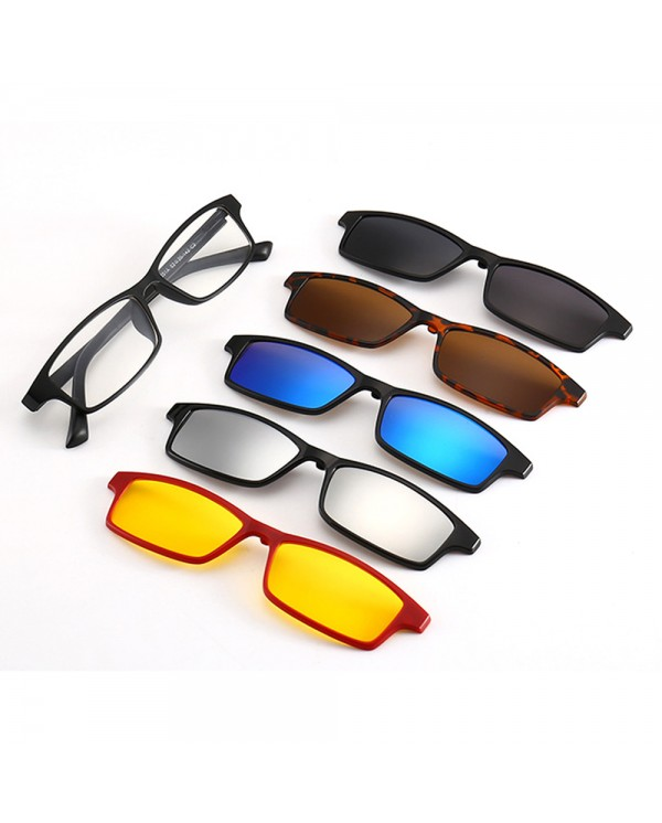 4GL 2251A Magnetic Clip On 6 in 1 Polarized UV Protection Sunglasses