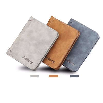 4GL BAELLERRY Men Women Wallet Short Purse Dompet D1166 Vertical