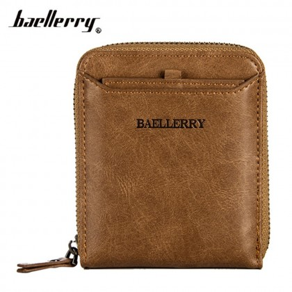 4GL Baellerry Men Women Wallet Short Purse Zipper Dompet D3124 Cross