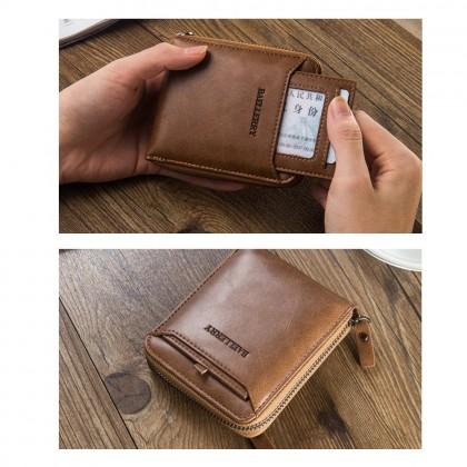 4GL Baellerry Men Women Wallet Short Purse Zipper Dompet D3124 Cross