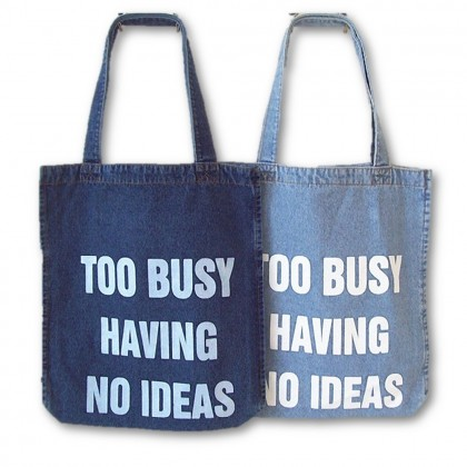 4GL Fashion Denim Jean Tote Bag Top Handle Bag