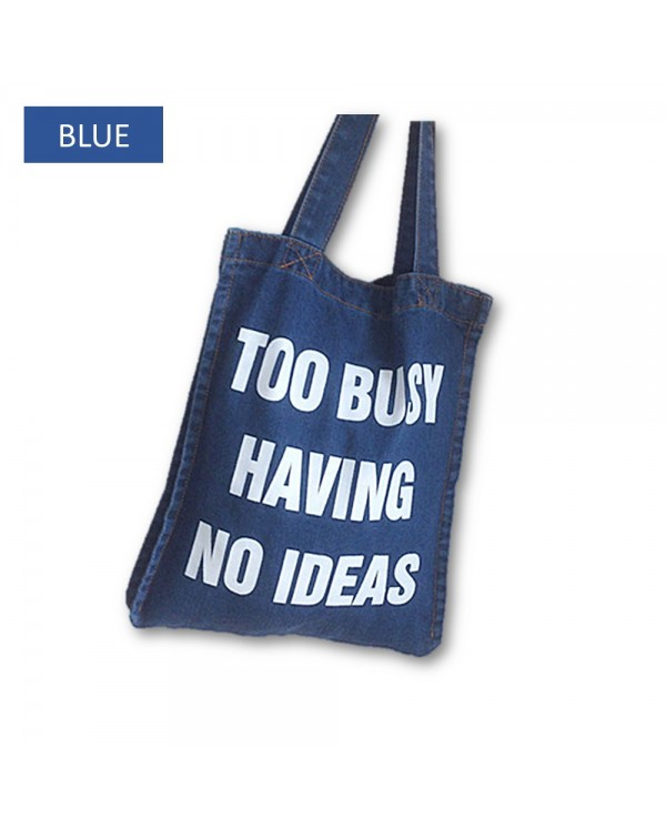 4GL Fashion Denim Jean Tote Bag Top Handle Bag