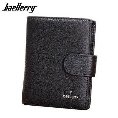 4GL Baellerry D1203 Cow Leather Men Women Wallet Short Purse Dompet