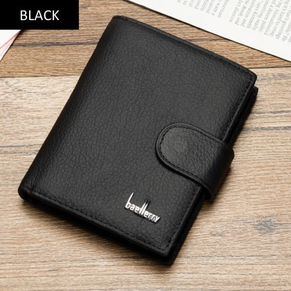 4GL Baellerry D1203 Short Wallet Cow Leather Men Women Purse Dompet