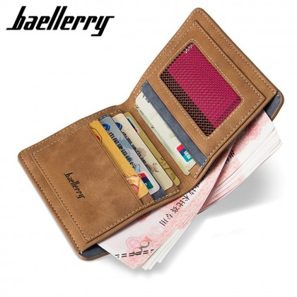 4GL Baellerry D1152 Men Women Wallet Short Purse Dompet Vertical