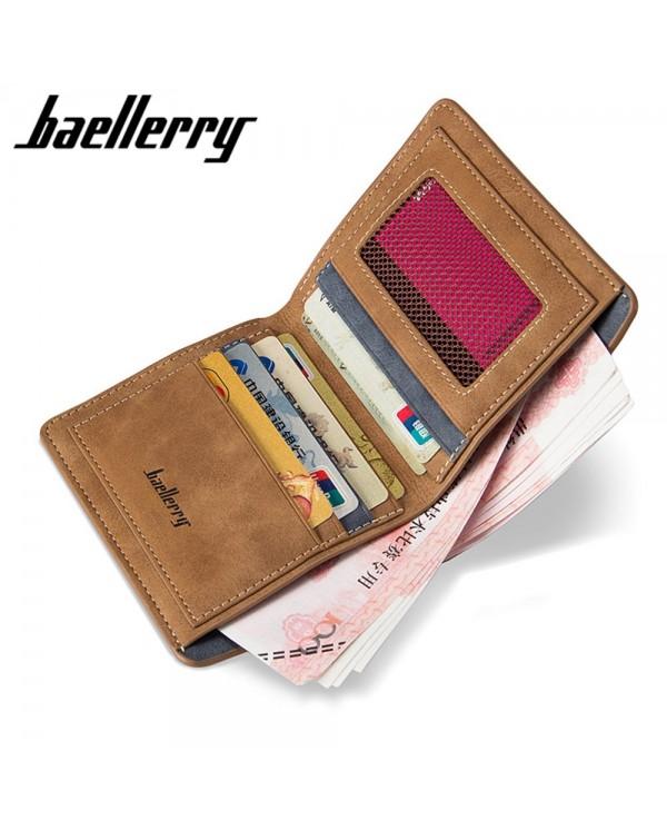 4GL Baellerry D1152 Men Women Wallet Short Purse Dompet Vertical