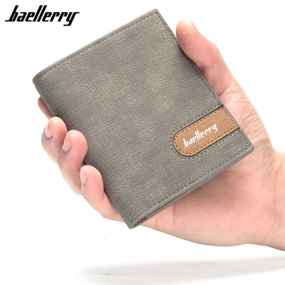 4GL Baellerry 13856-2 Men Women Wallet Short Purse Dompet Vertical