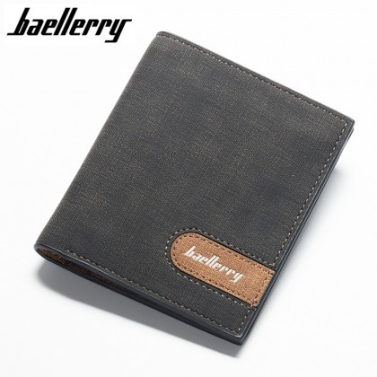 4GL Baellerry 13856-2 Vertical Short Wallet Men Women Purse Dompet