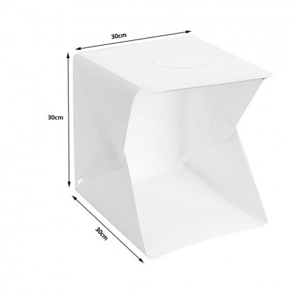 4GL 30cm(M) Mini Photo Studio Box Photography Backdrop with LED Light