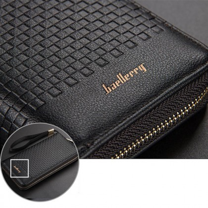 4GL Baellerry S6055 Long Wallet Men Women Zipper Purse Wristlet Dompet