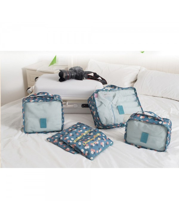 4GL Floral Design 6pcs Set Organiser Travel Bag