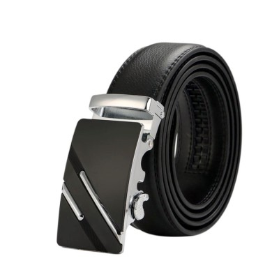 4GL LB01 Business Men Leather Automatic Buckle Belts Luxury Belt