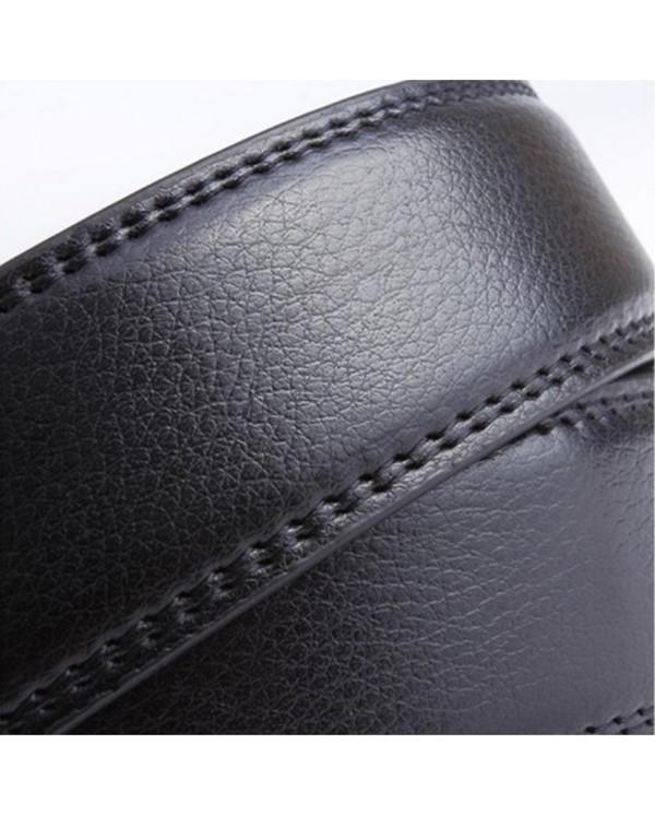 4GL LB01 Business Men Leather Automatic Buckle Belts Luxury Belt