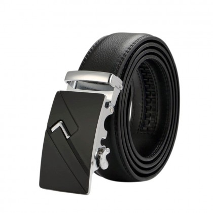 4GL LB02 Business Men Leather Automatic Buckle Belts Luxury Belt