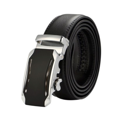 4GL LB06 Business Men Leather Automatic Buckle Belts Luxury Belt
