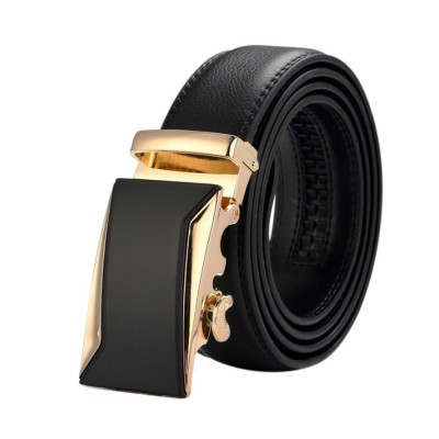 4GL LB10 Business Men Leather Automatic Buckle Belts Luxury Belt