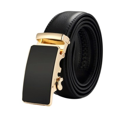4GL LB11 Business Men Leather Automatic Buckle Belts Luxury Belt
