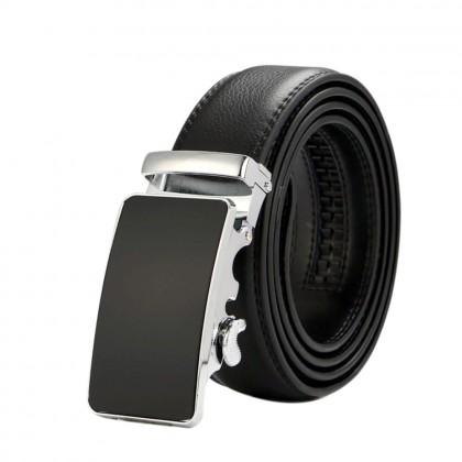 4GL LB11 Business Men Leather Automatic Buckle Belts Luxury Belt