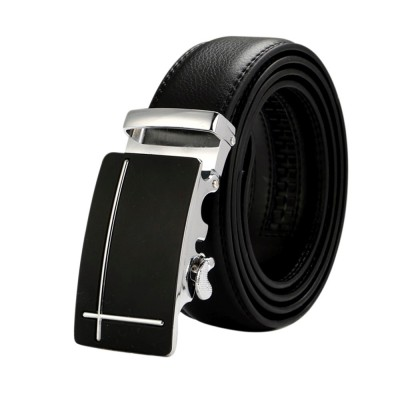 4GL LB07 Business Men Leather Automatic Buckle Belts Luxury Belt