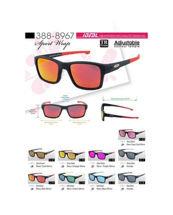 4GL Ideal 388-8967 Polarized Sunglasses Lightweight TR Frame Adjustable Temple