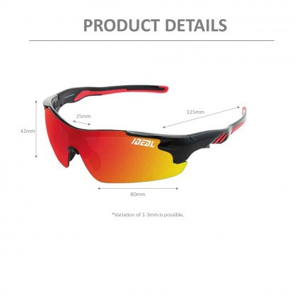 4GL Ideal 388-8993 Polarized Sport Sunglasses UV 400