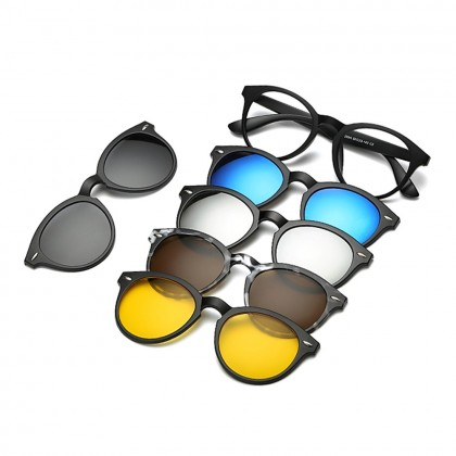 4GL 2205A Magnetic Clip On 6 in 1 Polarized UV Protection Sunglasses