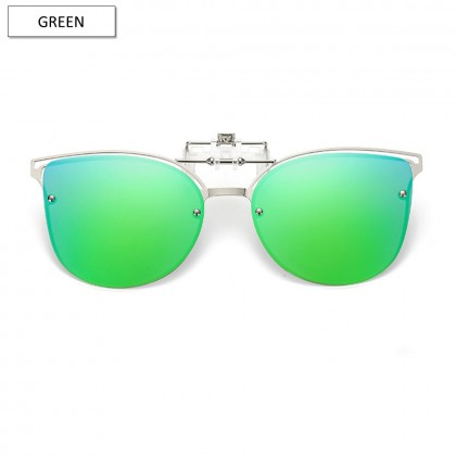 4GL CS09 Clip On Polarized Sunglasses Fashion Metal Frame