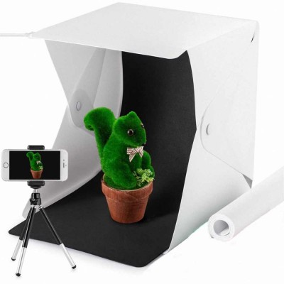 4GL Upgraded Mini Folding Portable Photo Studio With LED Light 2 Backdrops