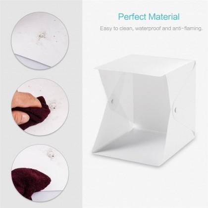 4GL 24cm(S) Button Version Portable Photo Studio LED Light Box