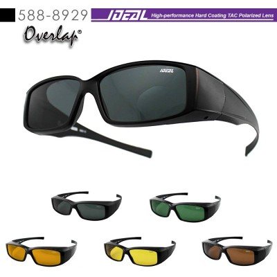 4GL IDEAL 588-8929 Fit Over Overlap Polarized Sport Sunglasses UV 400