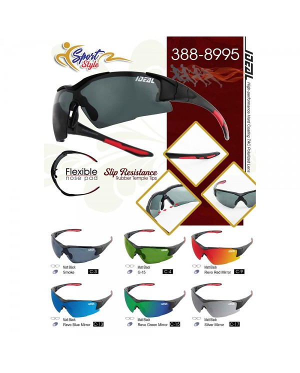 4GL IDEAL 388-8995 Polarized Sport Sunglasses UV400